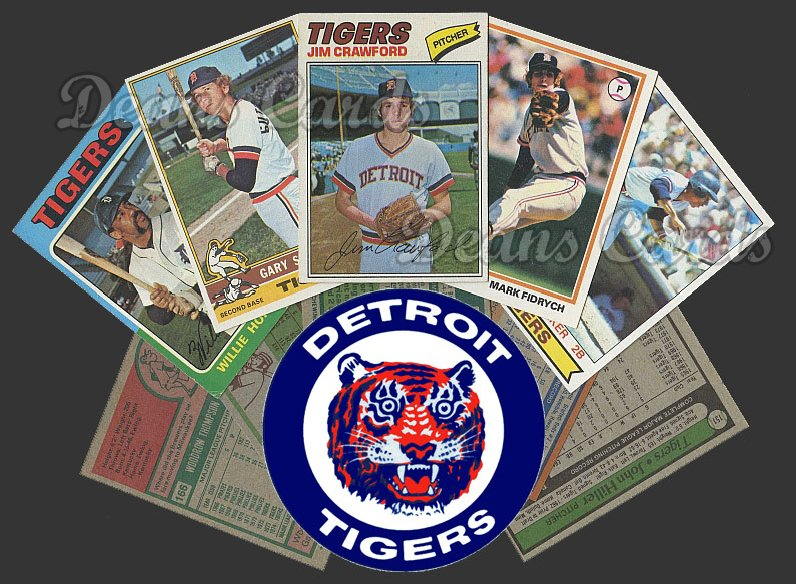 1975 Topps  -79  Detroit Tigers 58 Card Team Starter Set / Lot